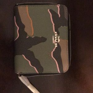 Coach camouflage fold wallet